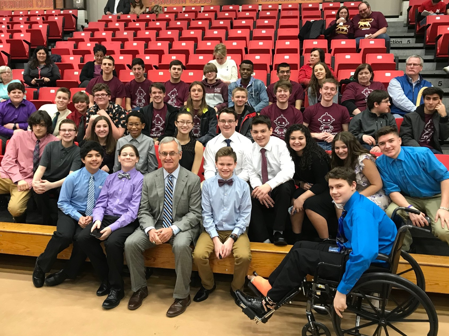 ROBOTICS TEAMS WITH YSU  PRESIDENT JIM TRESSEL