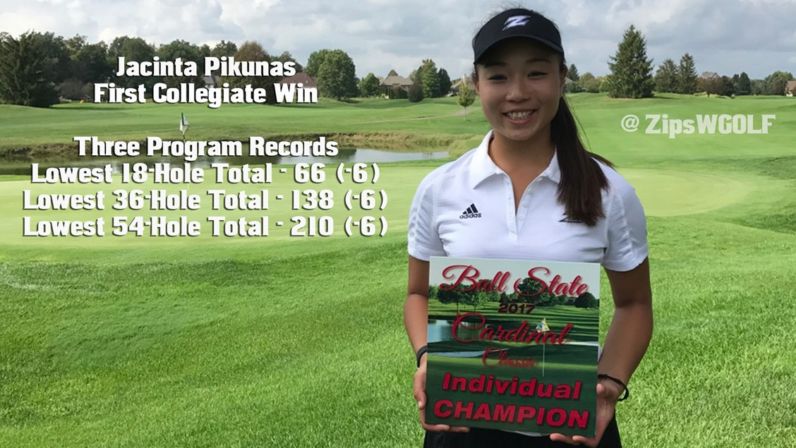 Jacinta Pikunas wins first collegiate tournament, breaks 3 records
