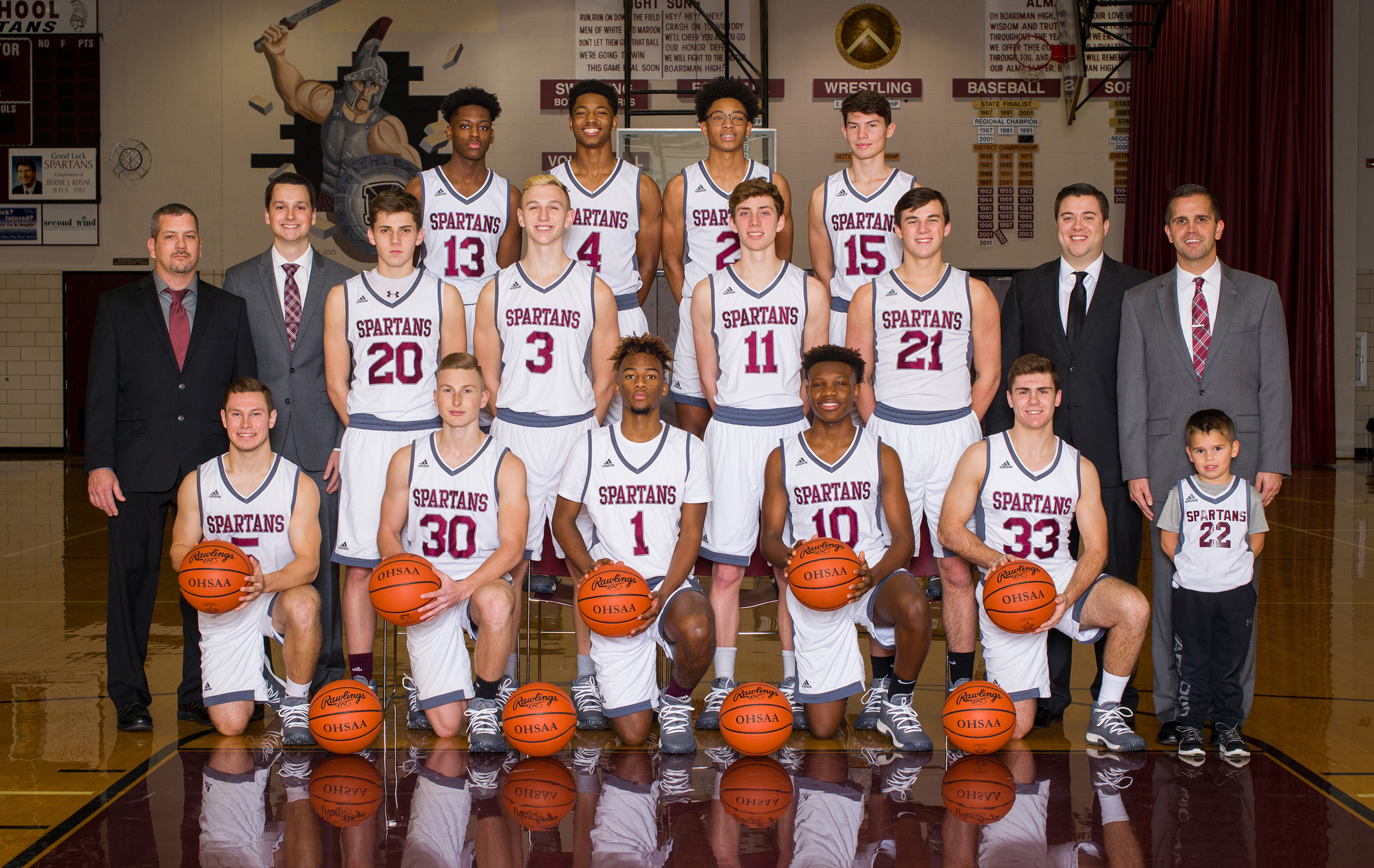 Boardman boys varsity basketball team