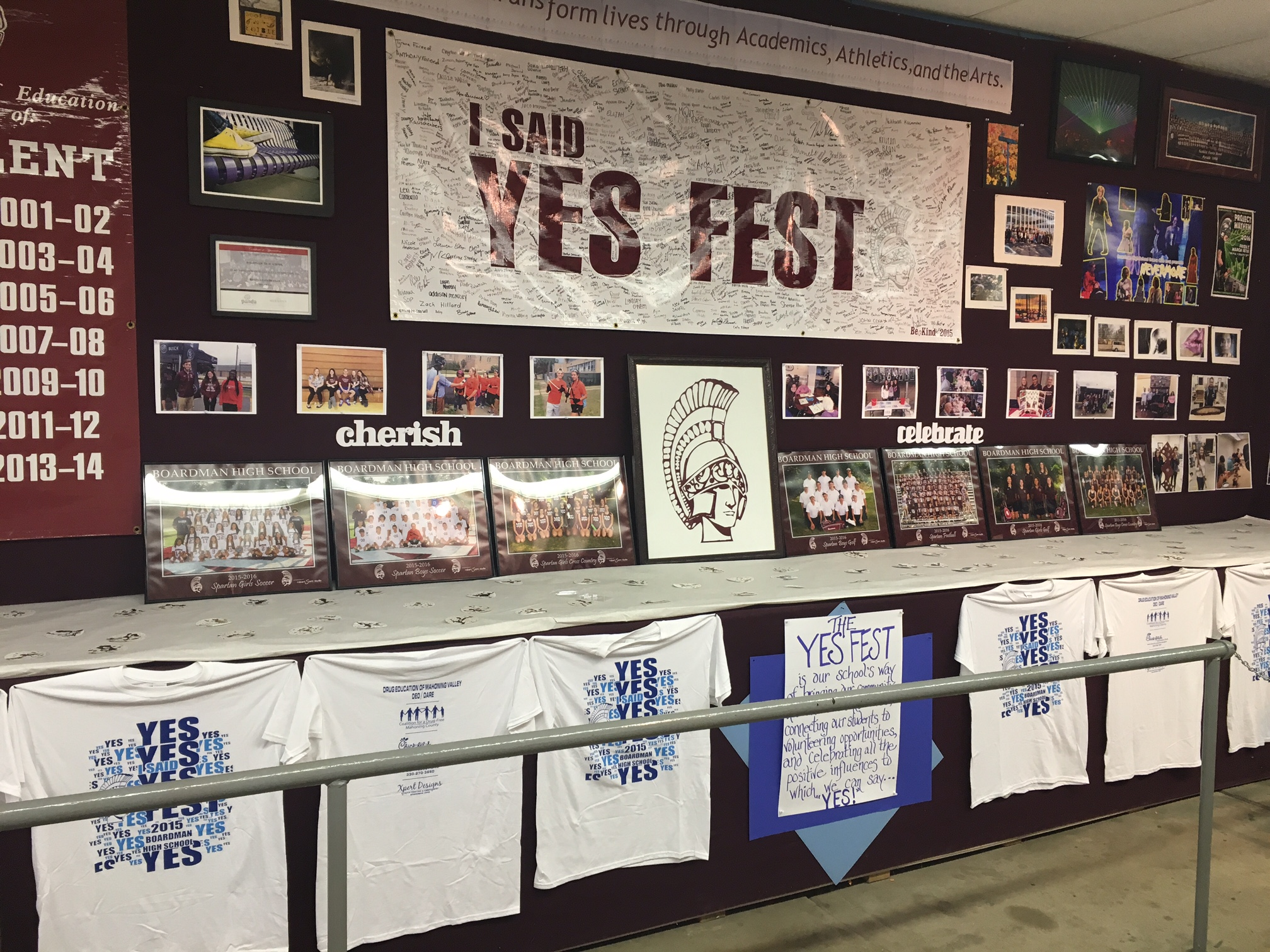 yes fest sign with students signatures
