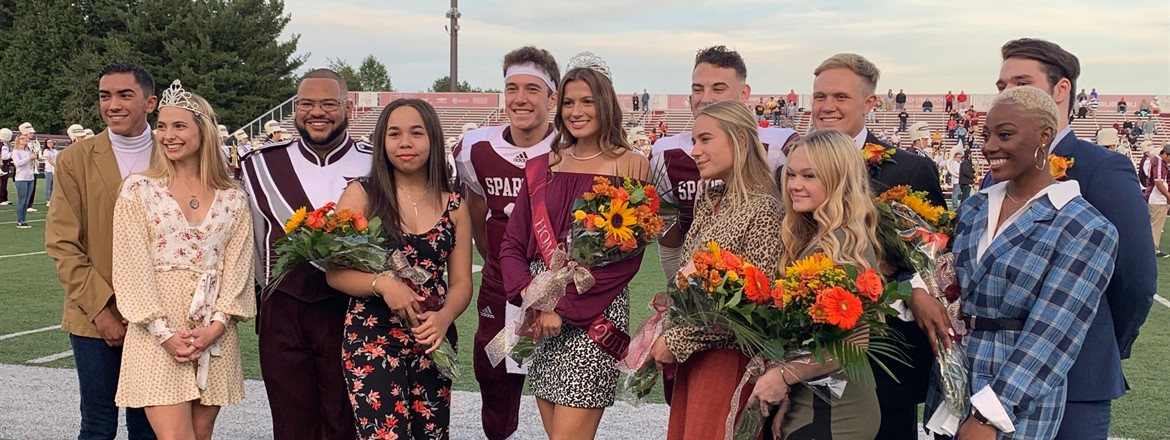 Homecoming Court on Football Field