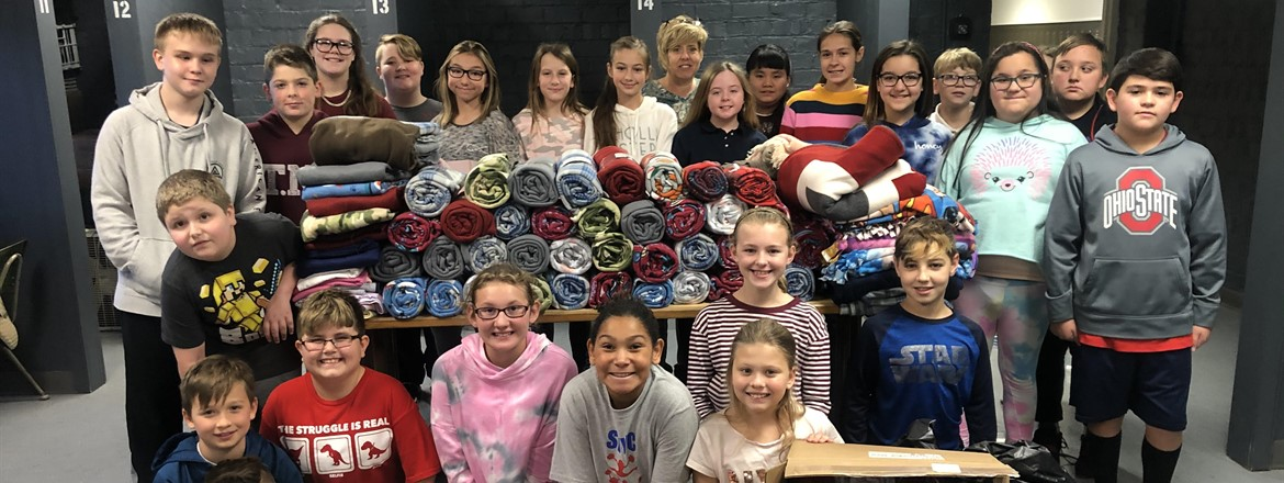 fifth graders from Maroon 5 collected 175 blankets for animal charities